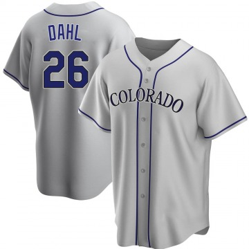 Replica David Dahl Youth Colorado Rockies Gray Road Jersey